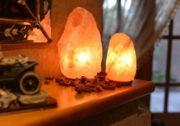 Соляные лампы и грелка